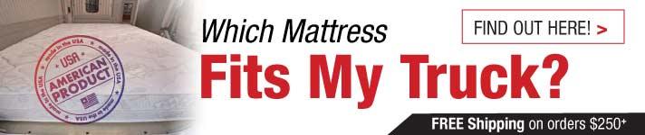 truck mattress sizes