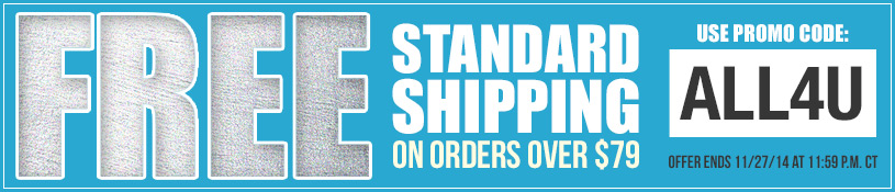 Free Standard or Economy Shipping on all orders over $79! Use promo code ALL4U