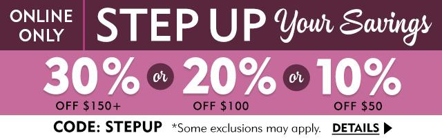 Save up to 30% Off
