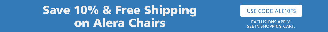 Alera Chairs 10% and Free Shipping on $99