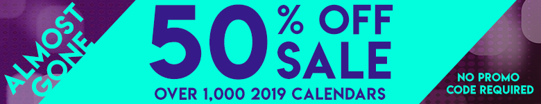 Save 50% Off Thousands of Calendars! No Code Required!
