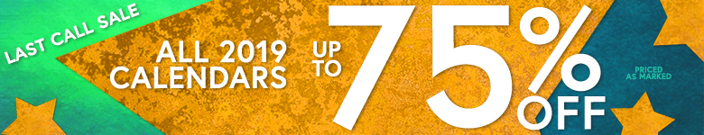 Shop Now! All 2019 Calendars up to 75% Off!