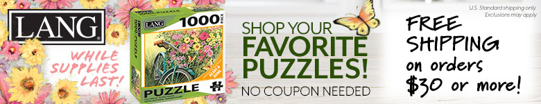Shop Lang puzzles, fun for the whole family, and get free shipping on orders $30 or more!