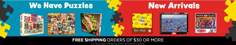 Shop Puzzles today and get free shipping on orders $30+!