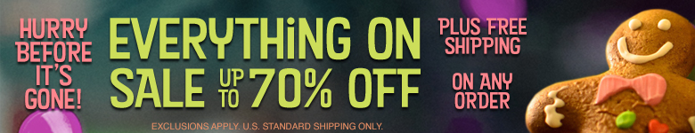 Everything On Sale up to 70% Off Plus FREE SHIPPING any order!