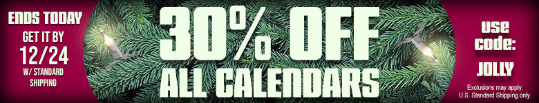 Shop Now and get 30% Off All Calendars! Use Code JOLLY