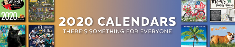 Shop our wide selection of 2020 Calendars! You are sure to find something for everyone!!