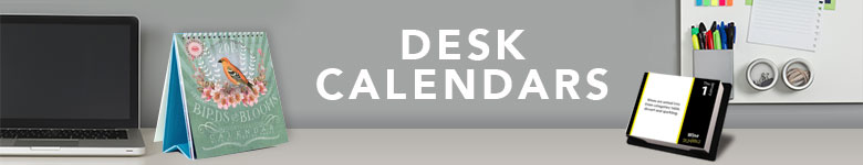 Stay organized at the office with desk calendars!