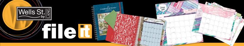 Shop Lang File-It planners and calendars as seen in the Lang Winter 2018 Catalog.