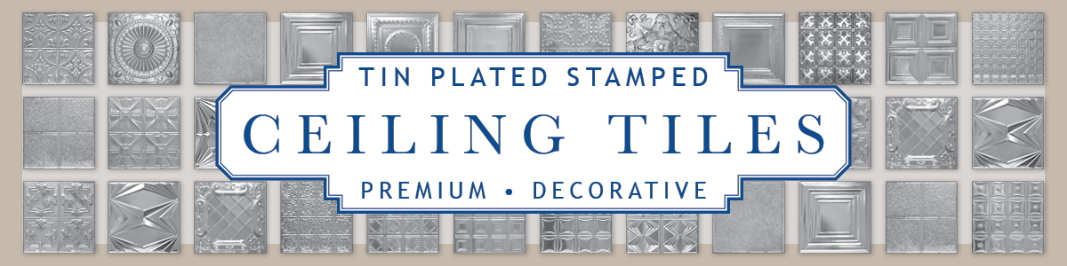 Tin Plated Stamped Steel Ceiling Panels
