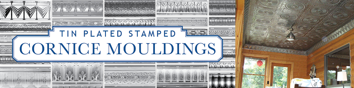 Tin Plated Stamped Steel Cornice Moulding