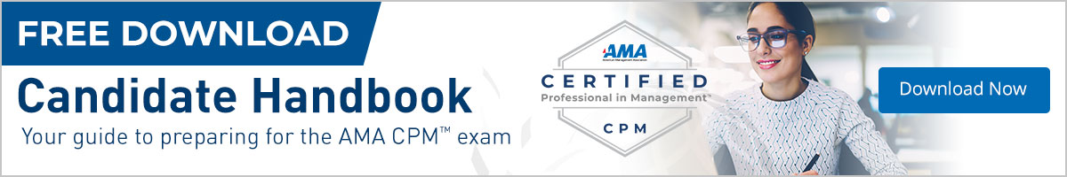 Download your free candidate handbook to prepare for the AMA CPM Exam