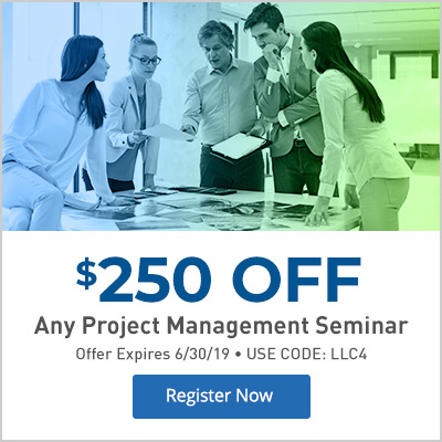 Take $250 off any Project Management Seminar