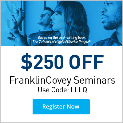 Take $250 Off any FranklinCovey Seminar
