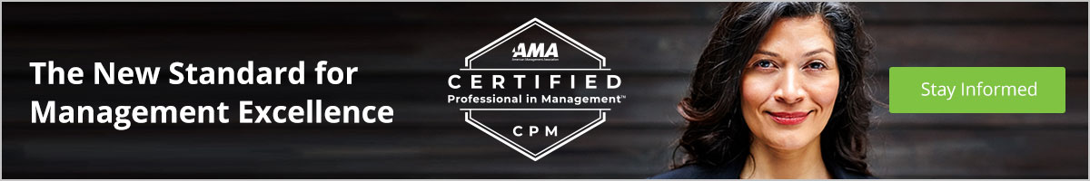 Sign-up to Stay Informed About AMA's Management Certification Program