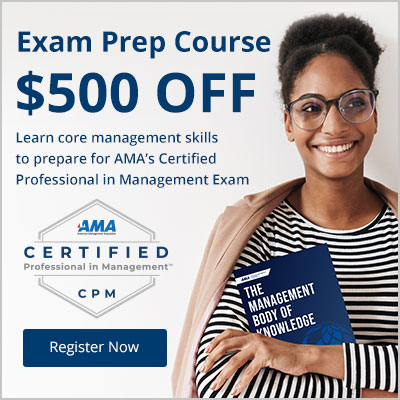 Save $500 on AMA's CPM Exam Prep Course