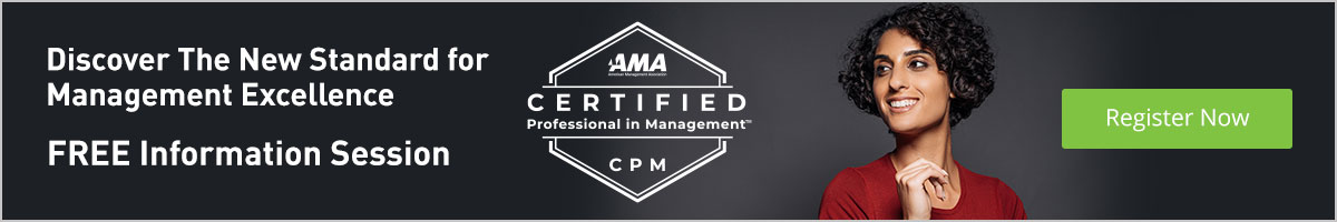 Sign-up for a free breakfast briefing about about AMA's Management Certification Program
