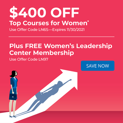 $400 OFF Top Courses for Women