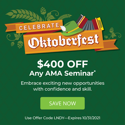 Celebrate Oktoberfest - $400 OFF Any AMA Seminar