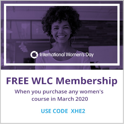 Get a Free WLC membership when you purchase any women's course in March 2020
