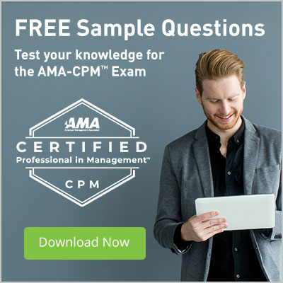 Test your knowledge for the AMA-CPM exam with our free sample questions