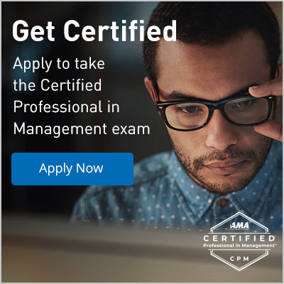 Apply to take the Certified Professional in Management Exam