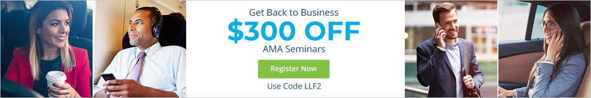 Get Back to Business with $300 OFF any AMA Seminar