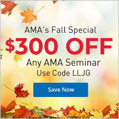 """Fall Ahead"" with $300 OFF any AMA Seminar"