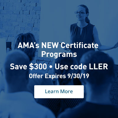 Take $300 OFF AMA's Certificate Programs