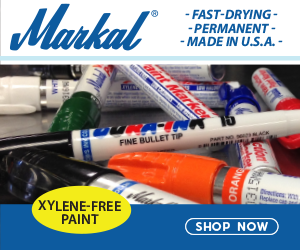 Markal Markers - Fast Drying, Permenant, Made in the USA. Xylene-Free Paint.