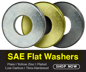 SAE Flat Washers - All Grades and Finishes