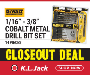 "CLOSEOUT SALE –  DeWalt 1/16"" - 3/8"" Cobalt Metal Drill Bit set"