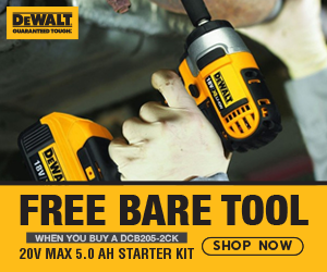 FREE DeWalt 20V MAX Bare Tool When You Buy a DCB205-2CK 20V MAX 5.0aH Starter Kit