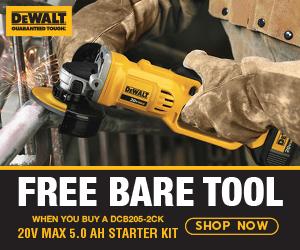 FREE DeWalt 20V MAX Bare Tool When You Buy a DCB205-2CK 20V MAX 5.0aH Starter Kit
