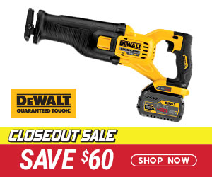 Closeout Sale - Save $60 on a DeWalt DCS388T1 Reciprocating Saw Kit