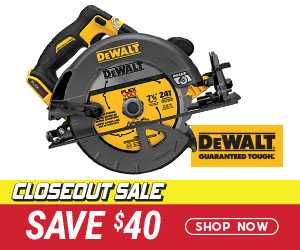Closeout Sale - Save $40 on a DeWalt DCS575B Circular Saw