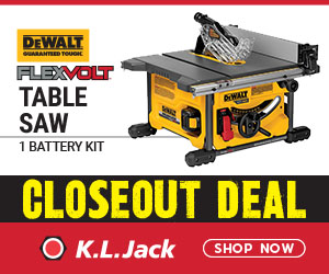 Closeout Sale - Save $100 on a DeWalt DCS7485T1 Table Saw