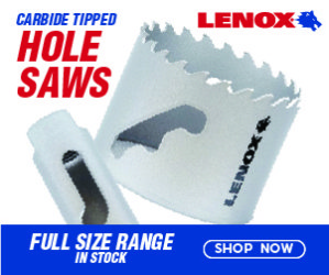 Lenox Carbide Tipped Hole Saws. Full size range, in stock now. Ships same day.