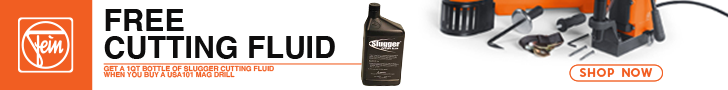 FREE Cutting Fluid - Get a Bottle of Slugger Cutting Fluid when you buy a USA101 Mag Drill