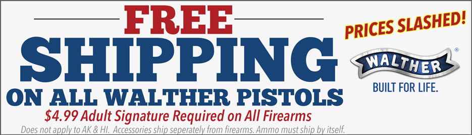 Free Walther Shipping